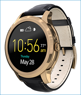 Fossil Group | Q Wearables | Q Founder Rose Gold Leather