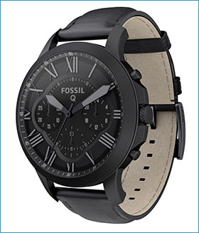 Fossil Group | Q Wearables | Q Grant Matte Black Leather