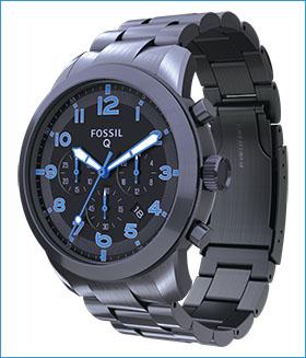 Fossil Group | Q Wearables | Q Pilot Gun Metal Bracelet